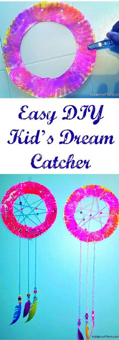 These dream catchers are fun and easy to make.  Dream catchers can help kids who have nightmares and have a hard time with bed time.  Counselors can also use them with children who have experienced trauma.