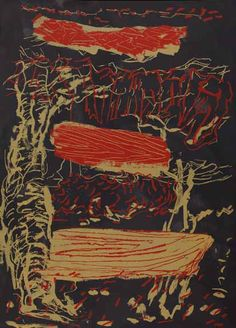 Per Kirkeby Visual Arts, Art School, Abstract Expressionism, Color Inspiration, Danish, Denmark, Printmaking, Modern Art, Fire