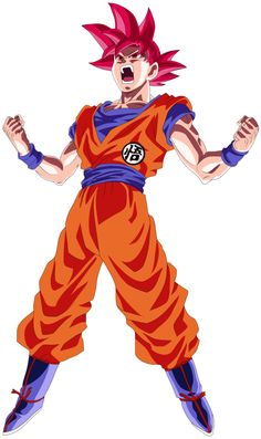 Goku Super Saiyan God Power Up! Palette 3 by EymSmiley on @DeviantArt