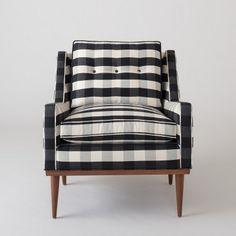 Jack Chair - Windowpane Plaid