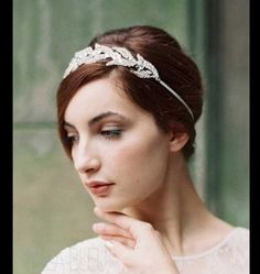 Silver headband by Enchanted Atelier