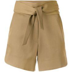 Iro tie-waist shorts (6,095 MXN) ❤ liked on Polyvore featuring shorts, iro shorts and tie waist shorts