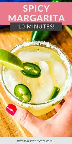 Learn how to make a spicy margarita perfect for sipping on at home on the deck all summer. Whip one of these margaritas up in your cocktail shaker, grab the tortilla chips, salsa and guacamole and enjoy! #margarita #recipe Refreshing Summer Cocktails, Fruity Drinks, Easy Cocktails, Summer Drinks, Margarita Salt, Jalapeno Margarita, Easy Drinks To Make, Tortilla Pinwheels, Margaritas