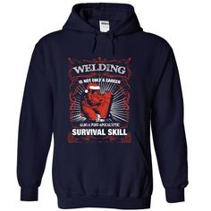 Welding is not only a career T Shirts, Hoodies. Check price ==► https://www.sunfrog.com/Funny/Welding-is-not-only-a-career-NavyBlue-Hoodie.html?41382