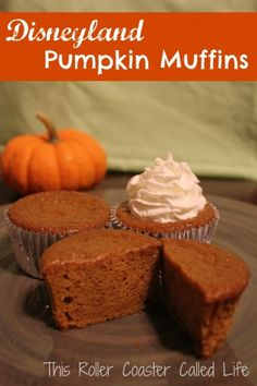 During that time, Disneyland sent recipes out to their annual passholders. I had heard so much about how great the Disneyland Pumpkin Muffins were...sub out for gluten free flour and coconut oil and coconut sugar.