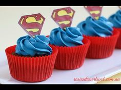 Super Moist Chocolate Cupcakes (Superman Cupcake Tutorial) - YouTube