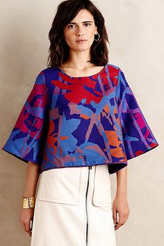 Painted Bough Swing Blouse - anthropologie.com