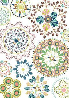 kaleidoscope flora Art Print