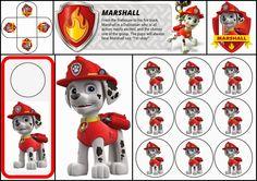 Paw Patrol o Patrulla Canina: Divertido kit de Marshall para Imprimir Gratis.