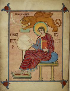St Mark in the Lindisfarne Gospels by Eadfrith - British Library Prints