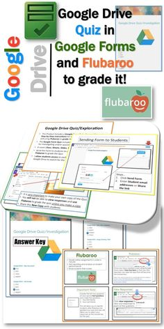 •This Product Includes a Google Form Quiz, Answer Key and Step-by-Step instructions for sharing the Quiz with students and using Flubaroo to grade the quiz  •Investigating or quizzing students about Google Drive   •It covers Docs, Sheets, Slides, Forms and Drawings