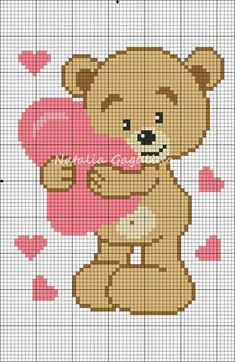 Схемы Cross Stitch Boards, Cute Cross Stitch, Cross Stitch Animals, Cross Stitch Kits, Cross Stitch Designs, Kawaii Cross Stitch, Pixel Crochet, Crochet Cross, C2c Crochet