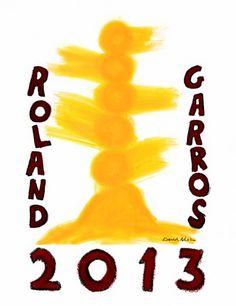 l'affiche 2013 de Roland Garros  Roland Garros Posters 1980-2010  http://www.studio-ancalime.com/roland-garros-30-annees-de-poster/