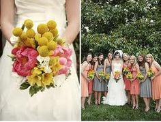 yellow and peach wedding flowers - Google Search