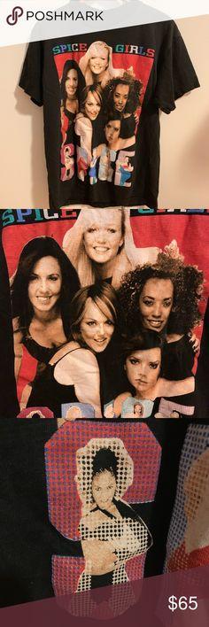 Spice Girls Glitter Return Tour 2007 2008 Kids Youth Black T Shirt New Official