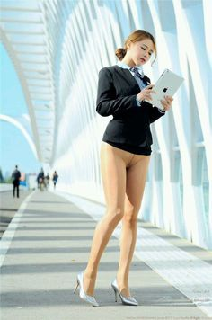 pantyhose office lady