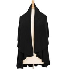 Shawl Vest in Black
