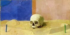 Euan Uglow - Skull 1994-7 Oil on canvas
