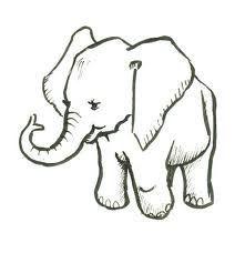 easy drawings of elephants makE - Google Search