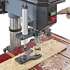 Drill press hold down design can be modified to fit most drill presses