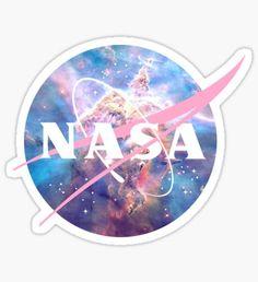 'Pastel Nebula Nasa Logo' Sticker by JenJarrett Tumblr Stickers, Cute Stickers, Logo Stickers, Pill Bottles, Water Bottles, Space And Astronomy, Aesthetic Stickers, Stargazing, Sticker Design
