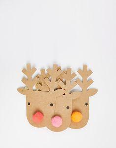 Bild 2 von Meri Meri – Weihnachtliche Geschenketiketten im 3er-Set mit Rentierdesign