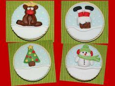 NONA'S Candy: Galletas de mantequilla para Navidad  decoradas con fondant