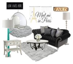 """""""Untitled #4"""" by geekyprincess on Polyvore featuring interior, interiors, interior design, home, home decor, interior decorating, Arteriors, Dot & Bo, CB2 and WallPops"""