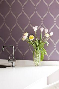Wall Stencil Pattern Ribbon Lattice Allover Stencil Great Alternatiive to Decals and Wallpaper for Wall Decor