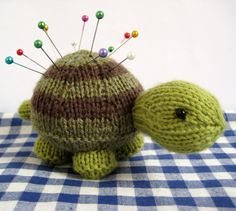 Tavistock Tortoise knitting pattern - knit this cute toy or handy pincushion by fluff and fuzz on Etsy, $4.18