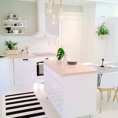Who is Concerned About Small Island Kitchen Table and Why You Should Be Paying Attention - fancyhomedecors Kitchen Interior, Home Decor Kitchen, Scandinavian Kitchen, Small Kitchen Island, Kitchen Island Table, Kitchens And Bedrooms, House Interior, Scandinavian Interior Kitchen, Home Kitchens