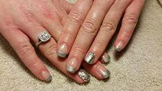 Pure Silver and Lots of Rhinestones! Amore Ultima Gel #nail #nails #nailart