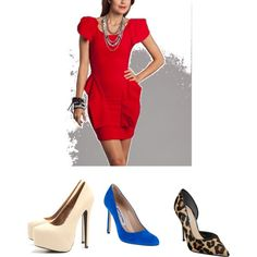 answer to question about shoe with red dress by madeline-fulton on Polyvore