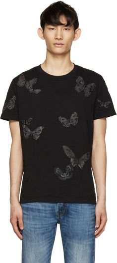 Valentino - Black Butterfly T-Shirt
