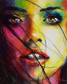 Abstract Painting Ideas for Beginners Abstract Faces, Abstract Art, Abstract Portrait Painting, L'art Du Portrait, Art Visage, Arte Pop, Face Art, Painting Inspiration, Art Girl