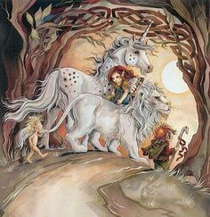 Unicorn and Lion Magical Creatures, Fantasy Creatures, Beautiful Creatures, Unicorns And Mermaids, Legendary Creature, Wiccan Spells, Unicorn Art, Here Kitty Kitty, Dope Art