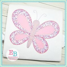 Embroidery Boutique, Embroidery Files, Machine Quilting Patterns, Quilt Patterns, Brazilian Embroidery Stitches, Blanket Stitch, Stitch Design, Applique Designs, Butterfly