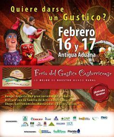 Feria del Gustico Costarricense, 16 y 17 de feb