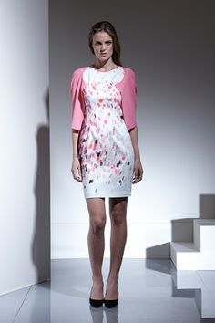 ...elie tahari.. fun for summer, but switch to darker sweater for the office....
