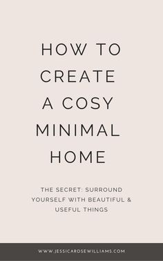 How to create a cosy