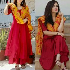 Kurti Designs Party Wear, Kurta Designs, Blouse Designs, Indian Attire, Indian Wear, Pakistani Outfits, Indian Outfits, Casual Dresses, Fashion Dresses