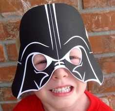 Darth Vader mask - could maybe cut this out of black paper and use white gel pen for detailing?