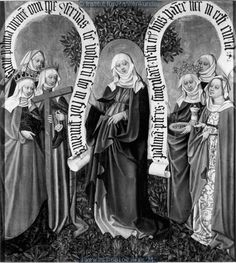 Virgin Mary with the Holy Widows and Women, 1439-1440, Master of the Albrecht Altar, Vienna