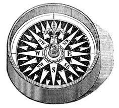 Vintage Clip Art - Compass - Steampunk - The Graphics Fairy