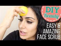 Easiest AhhhMAZING Face Scrub!\ خلطة طبيعيّة لتقشير البشرة - YouTube