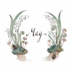 When April steps aside for May Like diamonds all the raindrops glisten; Fresh violets open every day: To some new bird each hour we listen.  Lucy Larcom.  Artwork: May by Kelsey Garrity Riley.