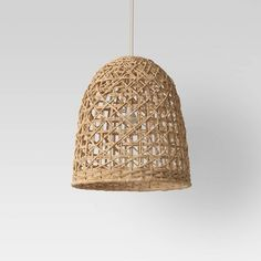Large Seagrass Light Pendant Light Brown (Lamp Only) Opalhouse Small Pendant Lights, Rattan Pendant Light, Opalhouse, Beach House Lighting, Light, Boho Lighting, Pendant Lighting, Basket Lighting, Wicker Pendant Light