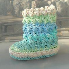 Baby Crochet Pattern Raindrop Boots