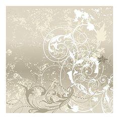 Vliestapete - Perlmutt Ornament Design - Fototapete Quadrat, Größe HxB:192cm x 192cm