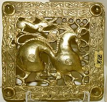 Scythians - Wikipedia, the free encyclopedia  Gold Scythian belt title, Mingachevir (ancient Scythian kingdom), Azerbaijan, 7th century BC.